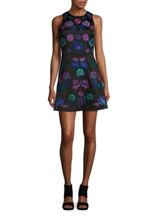 Cynthia Rowley Embroidered Floral A-Line Dress