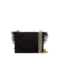 Cynthia Rowley Felix Linen Fringe Crossbody Bag