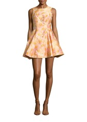 Cynthia Rowley Floral Jacquard Fit & Flare Dress