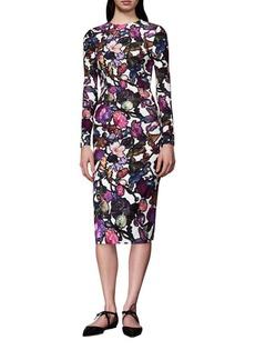 Cynthia Rowley Floral Midi Sheath Dress
