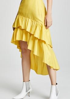 Cynthia Rowley High Low Tiered Ruffle Skirt