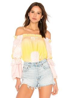 Cynthia Rowley Jetset Pineapple Top