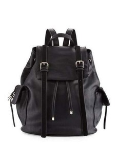 French Connection Kyle Faux-Leather Flap Backpack