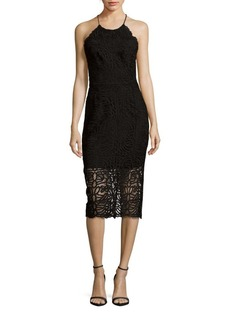 Cynthia Rowley Lace Bottom Halter Dress