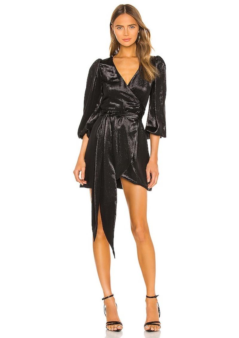 Cynthia Rowley Lame Mini Wrap Dress