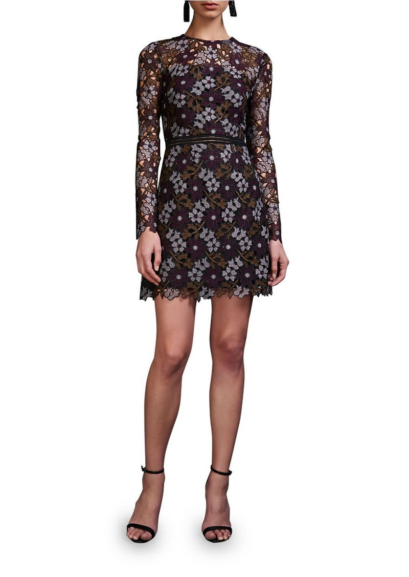 CYNTHIA ROWLEY Lynden Bell Floral Lace Long Sleeve Dress