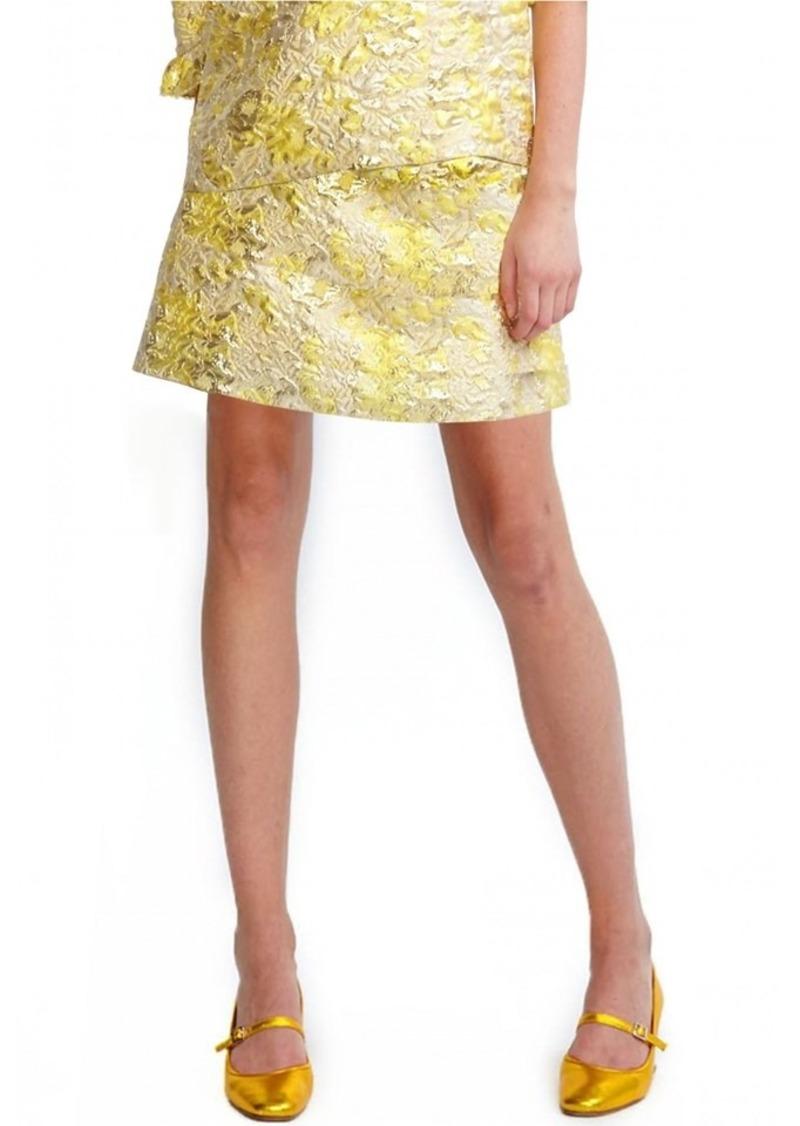 Cynthia Rowley Metallic Jacquard Mini Skirt
