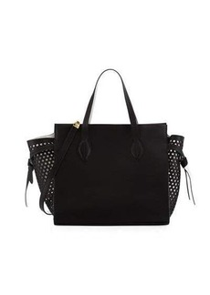 Cynthia Rowley Miranda Leather Perforated Tote Bag