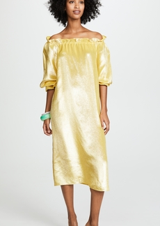 Cynthia Rowley Off the Shoulder Long Sleeve Dress