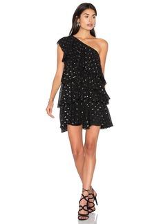 Cynthia Rowley One Shoulder Ruffle Dress