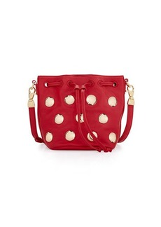 Cynthia Rowley Paisley Studded Leather Crossbody Bag