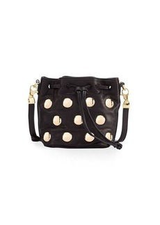 Cynthia Rowley Paisley Studded Leather Crossbody Bag