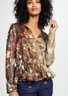 Cynthia Rowley Printed Silk Top