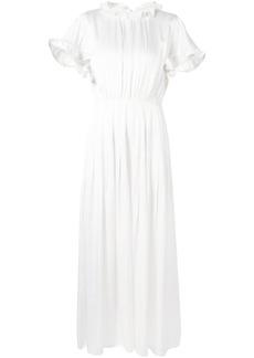 Cynthia Rowley ruffle trimmed long dress - White