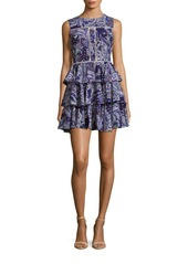 Cynthia Rowley Ruffled Paisley Fit & Flare Dress