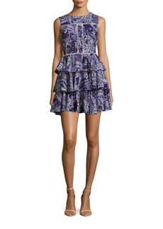 Cynthia Rowley Ruffled Paisley Fit & Flare Dress