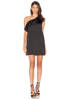 Cynthia Rowley Satin Ruffle Mini Dress