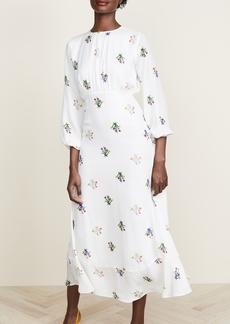 Cynthia Rowley Sea Breeze Printed Bell Sleeve Dress