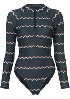 Cynthia Rowley Shock Wave Electric surf suit - Black