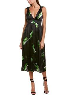Cynthia Rowley Silk-Blend Midi Dress