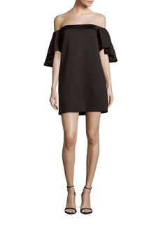 Cynthia Rowley Solid Off-The-Shoulder Dress