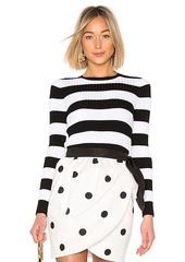 Cynthia Rowley Striped Ribbed Sweater