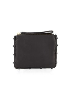 Cynthia Rowley Tabitha Ball-Trim Leather Clutch Bag