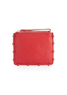 Cynthia Rowley Tabitha Ball-Trim Leather Clutch Bag