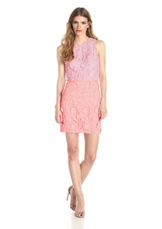 Cynthia Rowley Women's 3D Lace Open Back Color Combo Dress