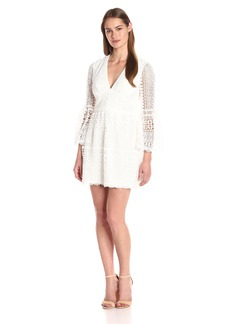 Cynthia Rowley Women's a-Line Dress with Three-Quarter Bell Sleeves