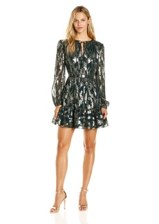 Cynthia Rowley Women's Boho Dress with Ruffle Bottom