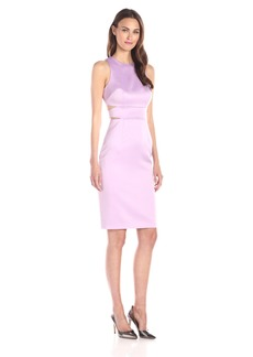 Cynthia Rowley Women's Bonded Satin Dress with Cut Outs