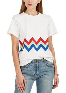 Cynthia Rowley Women's Charlie Zigzag Cotton Crewneck T-Shirt