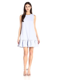 Cynthia Rowley Women's Crepe Dress with Quilted Bottom Flounce