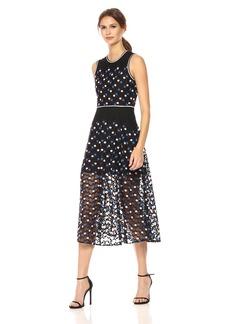 Cynthia Rowley Women's Dot Embroidered Mesh Dress