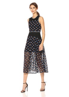 Cynthia Rowley Women's Dot Embroidered Mesh Dress