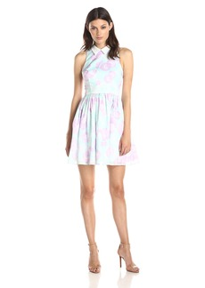 Cynthia Rowley Women's Fit and Flare Dress with Lace Removable Collar