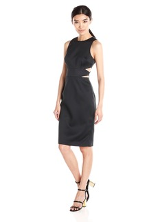 Cynthia Rowley Women's Fitted Cut Out Bonded Dress