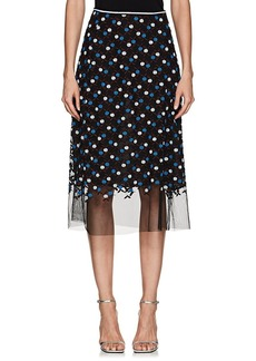 Cynthia Rowley Women's Floral-Embroidered Mesh Skirt