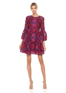 Cynthia Rowley Women's Floral Lace Bell Sleeve Dress