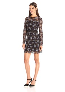 Cynthia Rowley Women's Floral Lace Fitted Dress with Trim Detail