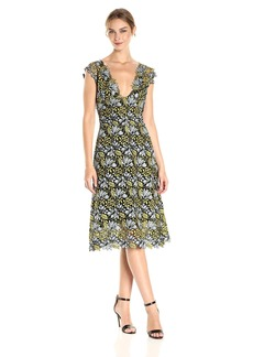 Cynthia Rowley Women's Floral Lace Midi Dress