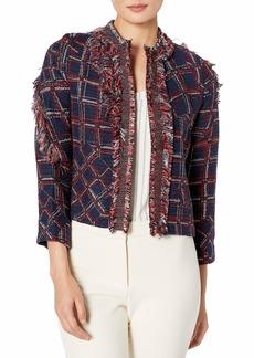 Cynthia Rowley Women's Fringe Tweed Jacket  M