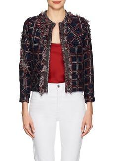 Cynthia Rowley Women's Fringed Tweed Jacket