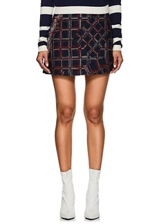 Cynthia Rowley Women's Fringed Tweed Miniskirt