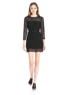 Cynthia Rowley Women's Geo Lace Long Sleeve Mini Dress