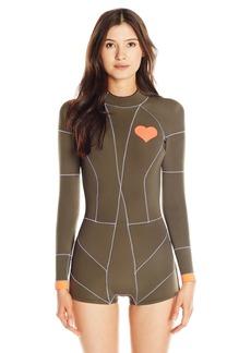 Cynthia Rowley Women's Heart Emblem Fiber-Lite Wetsuit One Piece Swimsuit