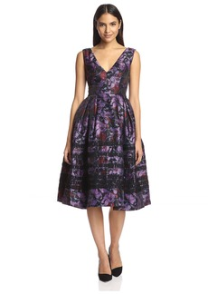 Cynthia Rowley Women's Iris Print Striped Dress   US