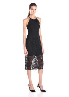 Cynthia Rowley Women's  Lace Dress with Halter Tie