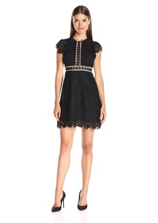 Cynthia Rowley Women's Lace Dress with Ruffles